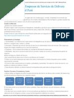 MEP – MiEmpresaPropia Como Iniciar Una Empresas de Servicio de Delivery Para Comidas en El Perú - MEP - MiEmpresaPropia
