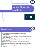 Management of Financial Derivatives