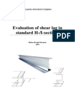 Evaluation of Shear Lag in Standard H I Sections