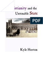 Christianity and the Untenable State