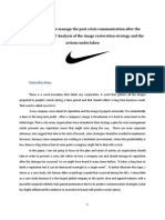 Nike Crises Communication Case Study