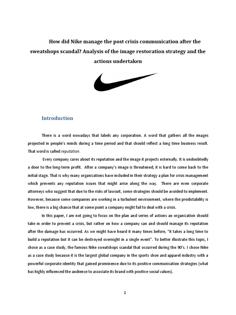 nike case study ethics This case explores the ethical challenges of this short case flash forward provides an update on nike's harvard business review case study #.