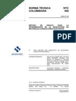 Ntc 469 Método de Ensayo Para La Determinación de La Resistividad de Materiales Conductores Eléctricos