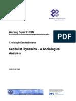 Dinámicas del capitalismo. Sociología