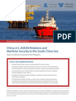 China-U.S.-ASEAN Relations and Maritime Security in the South China Sea