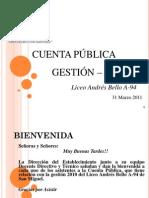 Cuenta Pública Gestión 2010