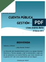 Cuenta Publica Gestión 2011