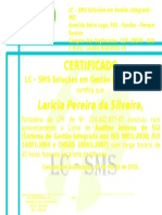 Certificado Auditor Interno de SGI