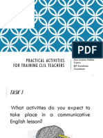 Practical Activities for Training CLIL Teachers