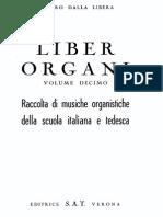 Liber Organi Vol. 10 Italian-German School