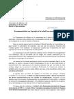 Recommandation de la Commission numérique de l'Assemblée nationale concernant le projet de loi sur le renseignement