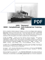 HMS Nemesis - WWII - Campbeltown - Anti-Submarine Training Ship