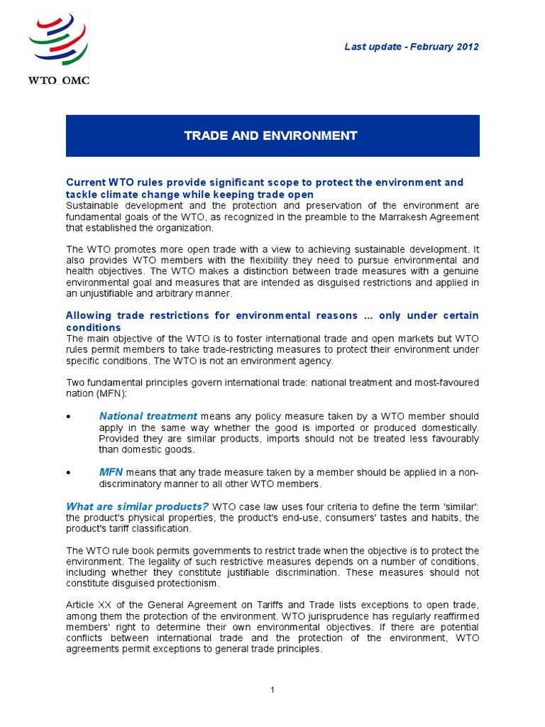 Briefenvirec doha development round world trade organization platinumwayz
