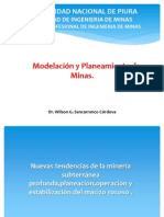 Nuevas Tendencias de La Minería Subterránea Profunda,Planeación,Operación y