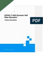 Dynamic Half Rate Allocation - ZTE