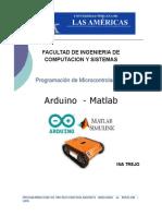 Programacion Microcontroladores Arduino y Matlab