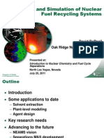12 - Modeling and Simulation of Nuclear Fuel Recycling Systems