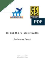 Sudan Oil Conference Report