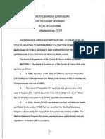 Fresno County Cannabis Ban - Ordinance 15-003