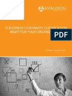 Is Business Continuity Certification Right for Your Organization