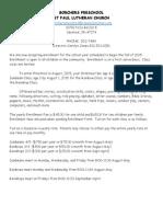 2015-16 Borchers Preschool Enrollment Letter and Form