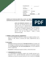 Demanda de Reinvindicacion Lucho Moreno