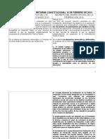 Comparación de La Reforma Constitucional 10 de Febrero de 2014