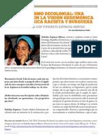 Barroso J. M. 2014. Feminismo Decolonial Una Ruptura Con La Visión Hegemónica Eurocéntrica Racista y Burguesa. Entrevista Con Yuderkys Espinosa Miñoso.