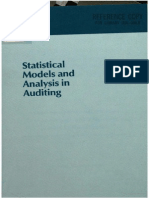 Statistical Models and Analysis in Auditing
