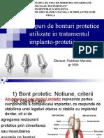 Tipuri de Bonturi Protetice Utilizate in Tratamentul Implanto-protetic