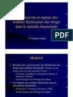 3-7 PR- Ténosynovite Et Rupture Des Fléchisseurs (Pr Fontaine)
