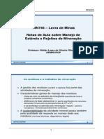 Material Prof. Waldyr Lopes - Disciplina Lavra de Minas