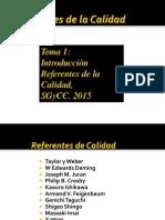 Referentes de La Calidad 2015 Sgc 11-sSA03-15