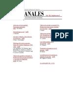 Anales V22S1-00 - Indice Del Suplemento