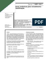 NBR 13817-1997 - Placas Cerâmicas Para Revestimento - Classificação