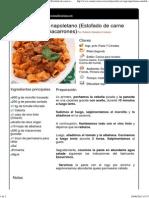 Paccheri Al Ragu Napoletano (Estofado de Carne Napolitano Con Macarrones)
