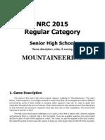 NRC 2015 Regular Category - Upper Secondary
