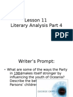 Lesson 11 Part 4 of Literary Analysis