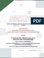 Newsletter Boletín Española de Psiquiatría Legal, Abril 2015, a una columna