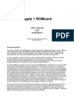 Manual Apple 1 ROMcardd