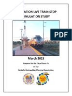 Zia Station Live Train Stop Simulation Report - March 2015
