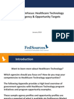 Fed Sources InFocus - Healthcare Technology Sample Agency & Opportunity Targets
