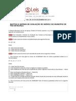 Lei Complementar 186 2011 de Foz Do Iguaçu PR