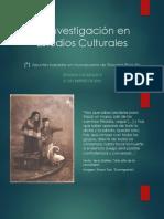 La Investigación en Estudios Culturales