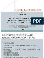 Presentation Semantic Roles SYNTAX