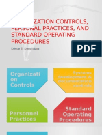 Organization Controls, Personal Practices, And Standard
