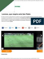 Un Gran Gol de Cauteruccio Le Da La Victoria a San Lorenzo, Que Respira Ante San