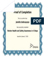 worker health and safety awareness training