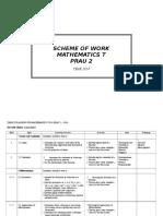 Yearly Plan Mathematics t Sem 2