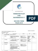 Yearly Plan Mathematics t Sem 2 2015